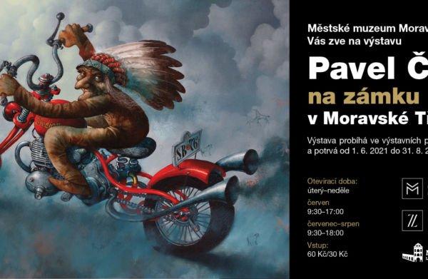 Výstava obrazů a ilustrací známého autora dětských knih Pavla Čecha